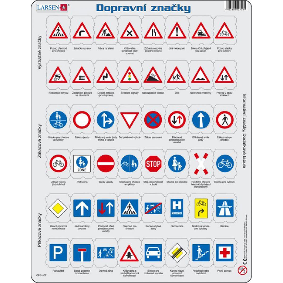 Larsen Puzzle Dopravní značky