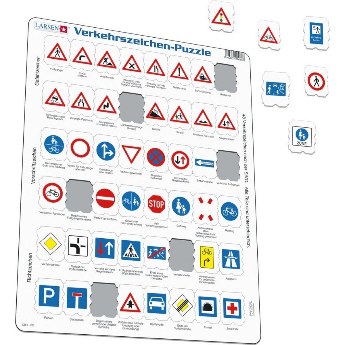 Larsen Puzzle Dopravní značky DE