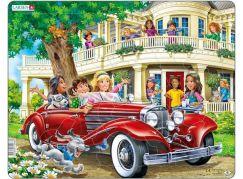 Larsen Puzzle Holky v červeném kabrioletu