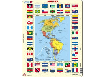 Larsen Puzzle Mapa Ameriky