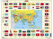 Larsen Puzzle Mapa Asie