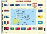 Larsen Puzzle Mapa Austrálie a Oceánie