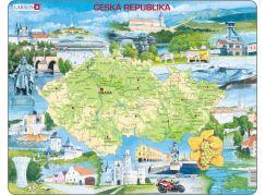 Larsen Puzzle Mapa Česka - atraktivní místa