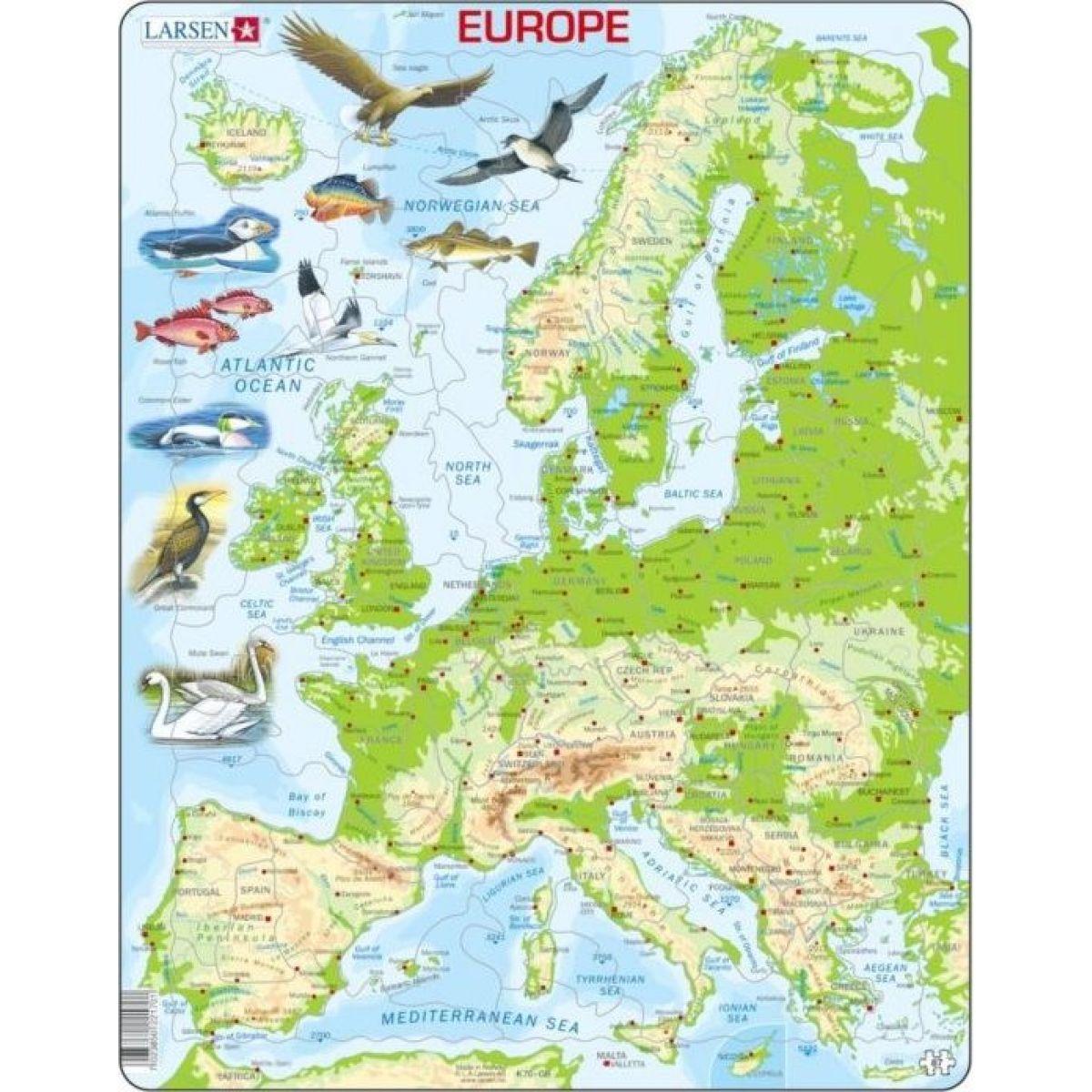 Larsen Puzzle Mapa Evropy geografická