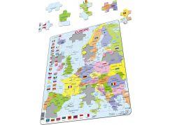 Larsen Puzzle Mapa Evropy Maxi