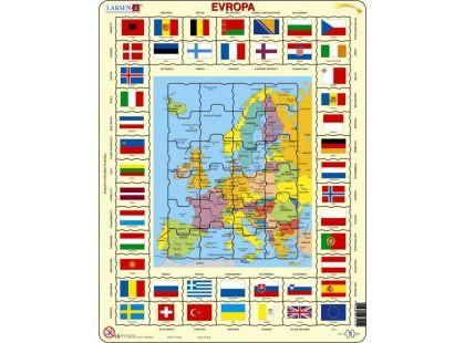 Larsen Puzzle Mapa Evropy