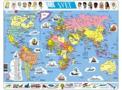 Larsen Puzzle Mapa Světa