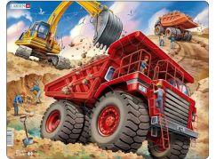 Larsen Puzzle Obří náklaďák červený