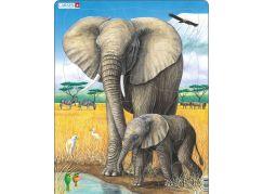 Larsen Puzzle Slon se slůnětem