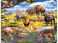 Larsen Puzzle Zvířata savany