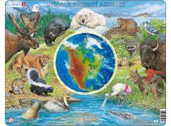 Larsen puzzle Zvířata Severní Ameriky 90 dílků