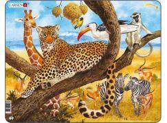 Larsen Puzzle Zvířata v Africe - Leopard