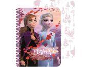 Ledové království II 3D zápisník A5 60 listů Anna a Elsa