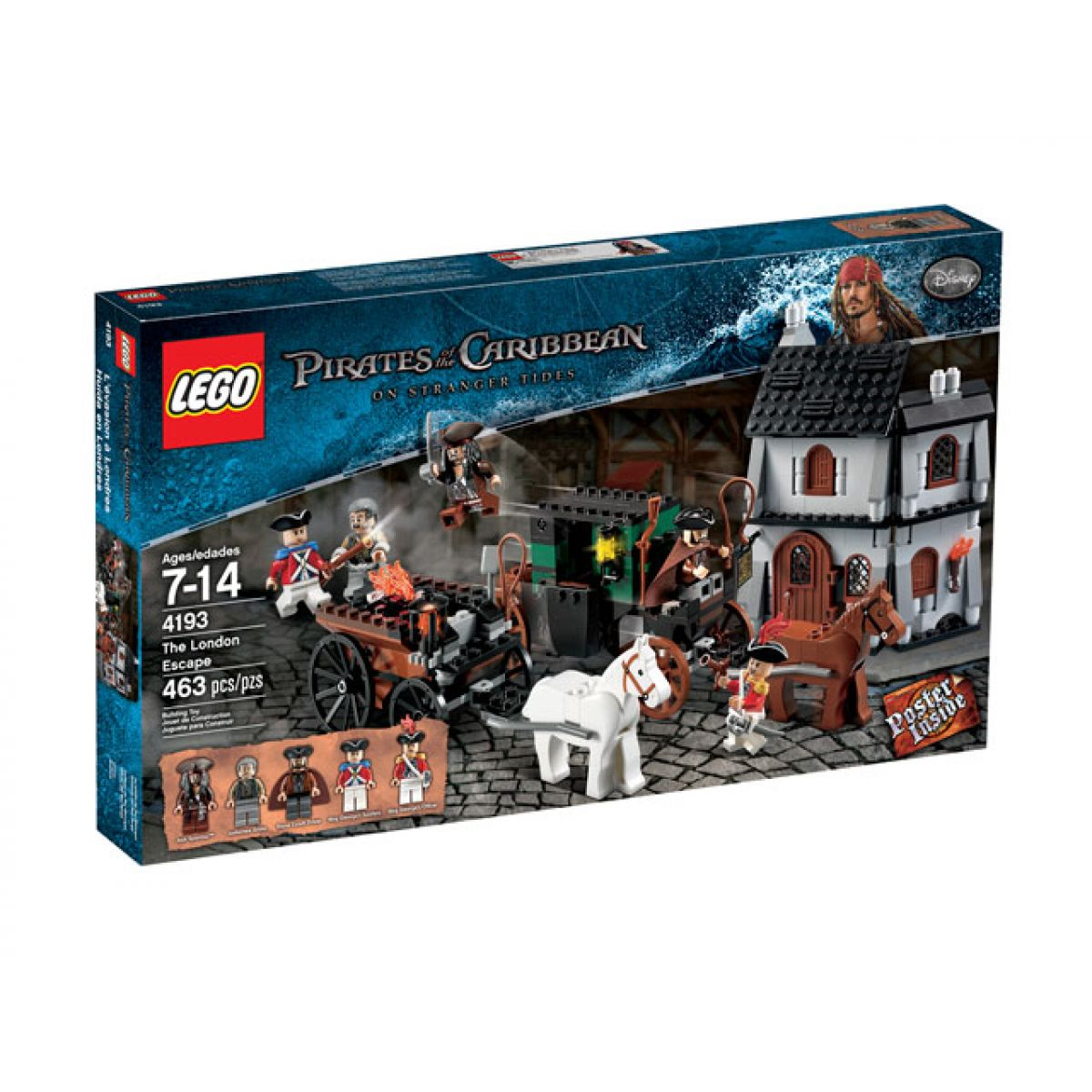 LEGO 4193 Piráti z Karibiku Útěk z Londýna