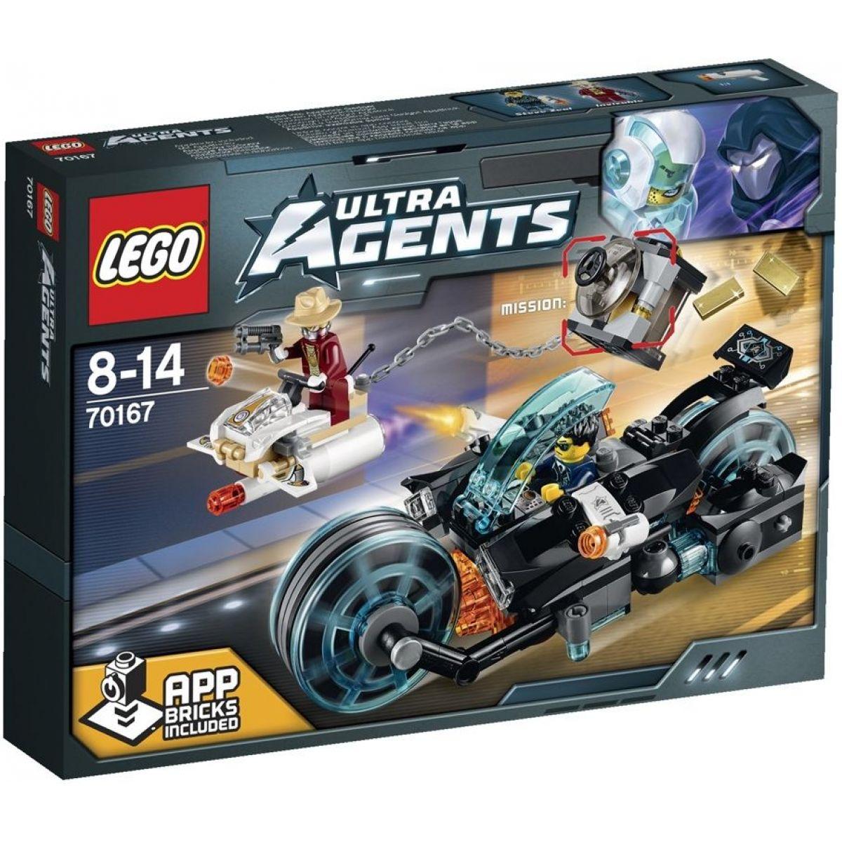 LEGO Agents 70167 Invizable utíká se zlatem