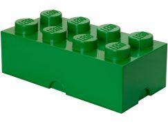 LEGO Box na svačinu 100x200x75mm Tmavě zelená