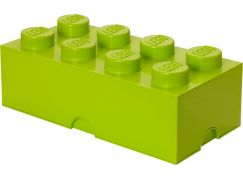 LEGO Box na svačinu 10x20x7,5cm Světle zelená