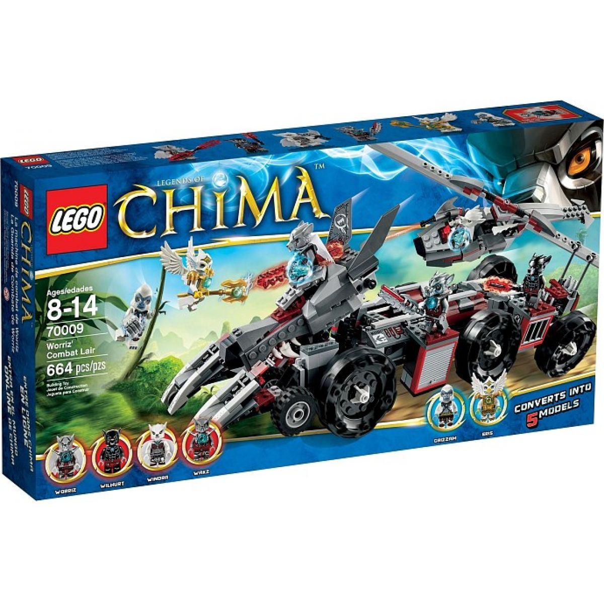 LEGO Chima 70009 Worrizova bojová pevnost