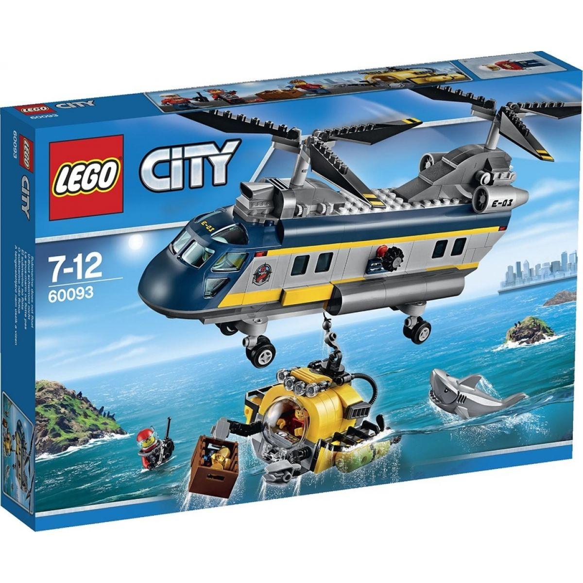 LEGO City 60093 Vrtulník pro hlubinný mořský výzkum