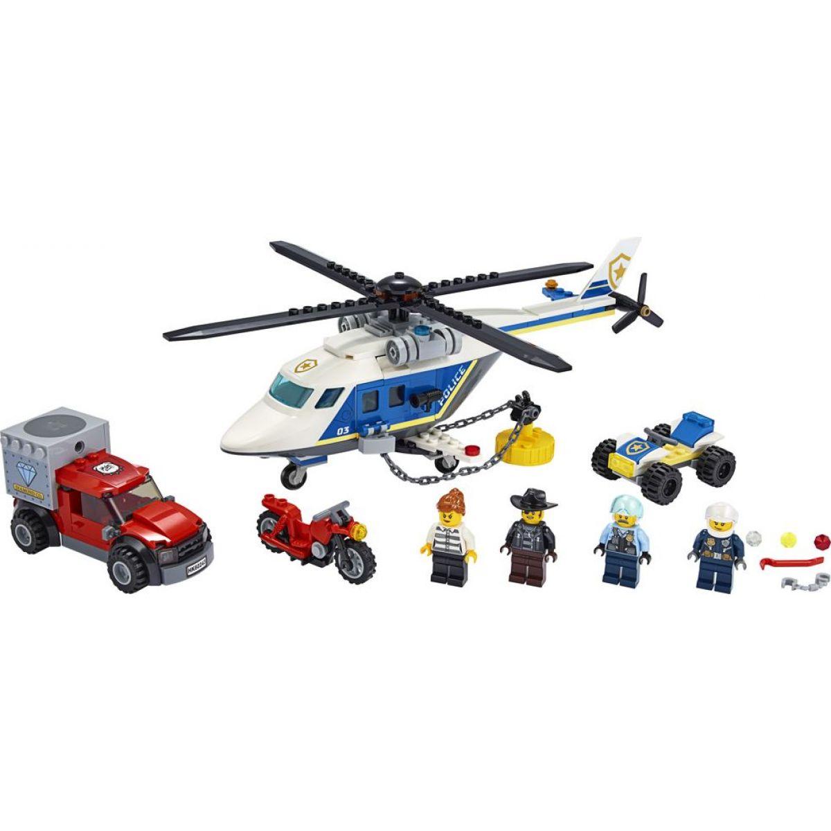 LEGO City 60243 Pronásledování s policejní helikoptérou - Poškozený obal