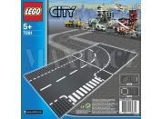 LEGO City 7281 Křižovatka ve tvaru T a zatáčky