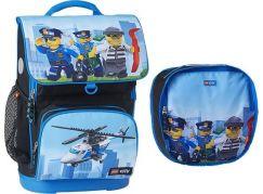 LEGO CITY Police Chopper Maxi školní aktovka, 2 dílný set