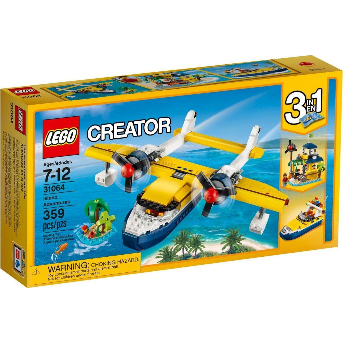 LEGO Creator 31064 Dobrodružství na ostrově - Poškozený obal