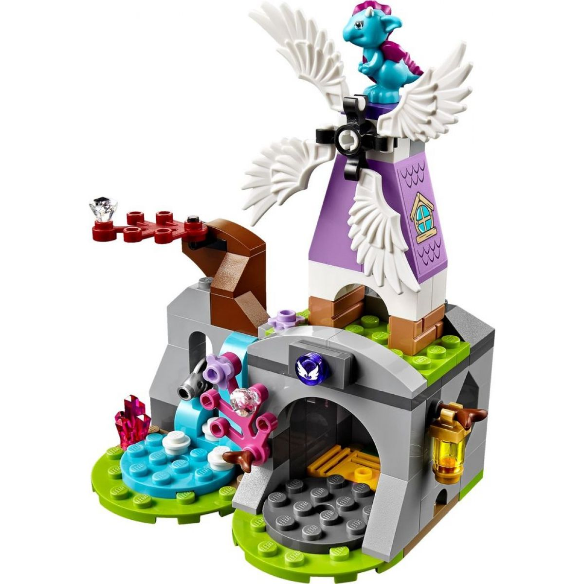 LEGO Elves 41077 Aira a saně tažené Pegasy #7
