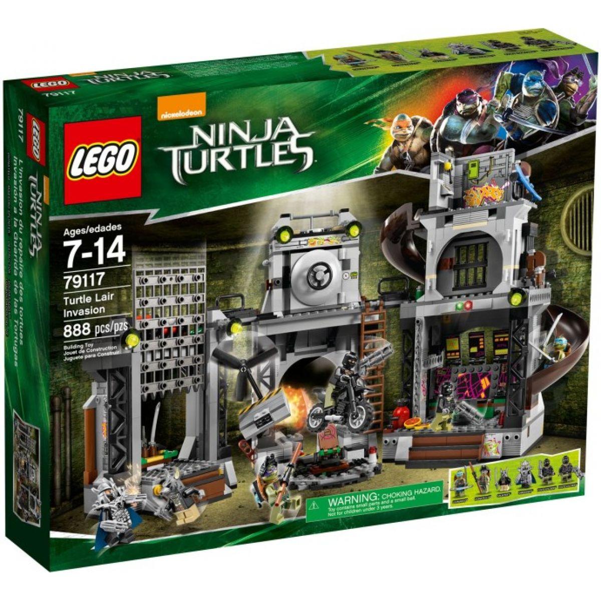 LEGO Želvy Ninja 79117 Invaze do želvího doupěte