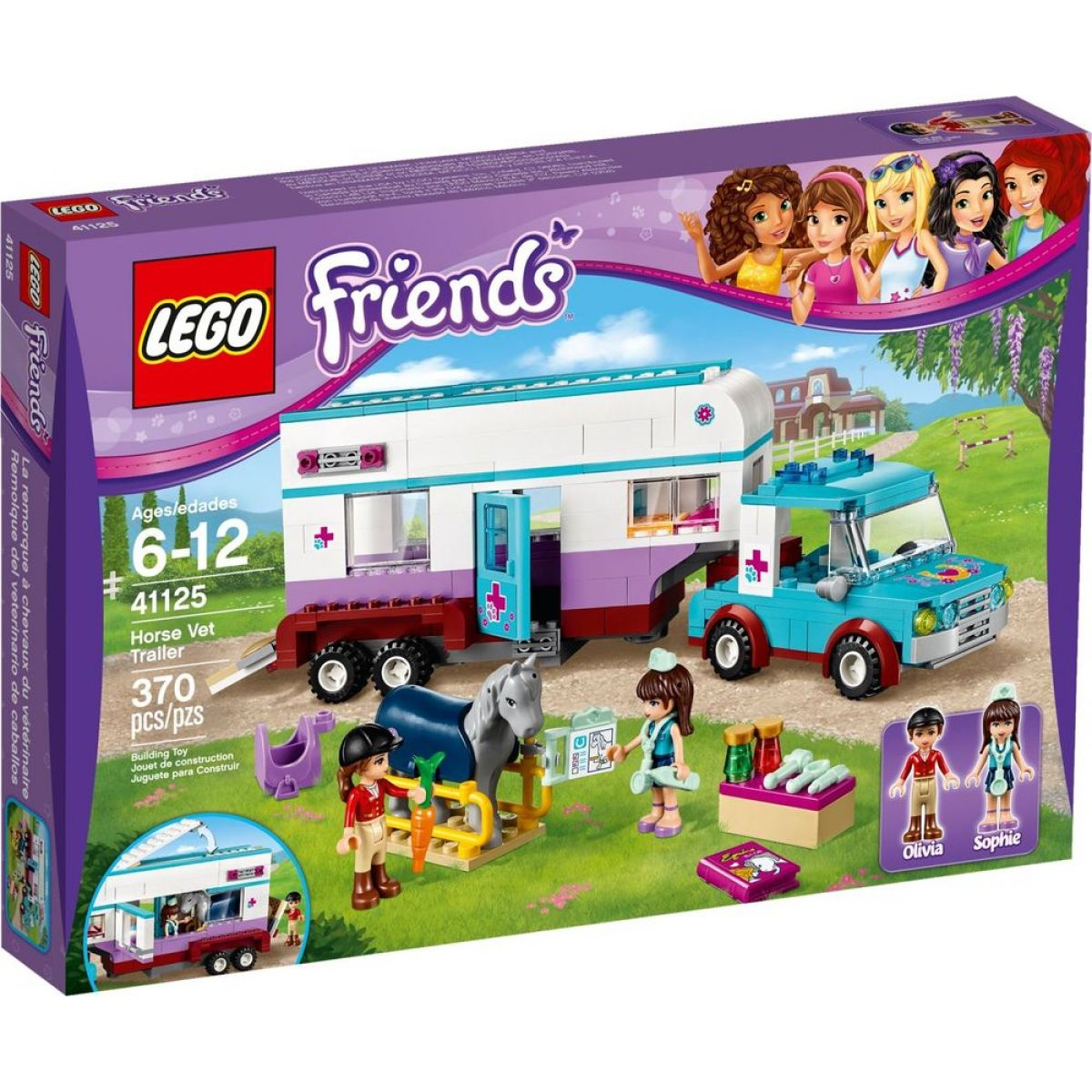 LEGO Friends 41125 Veterinářský přívěs s koněm