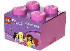 LEGO Friends úložný box 250x252x181 mm - Růžová