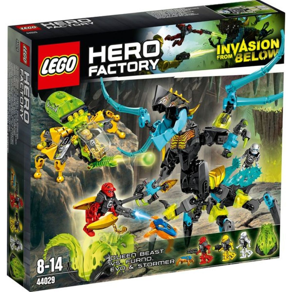LEGO Hero Factory 44029 Královna Monster vs. Furno, Evo a Storm