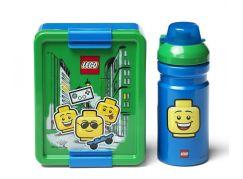 LEGO Iconic Boy svačinový set láhev a box modrá a zelená