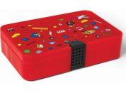 LEGO Iconic úložný box s přihrádkami červená