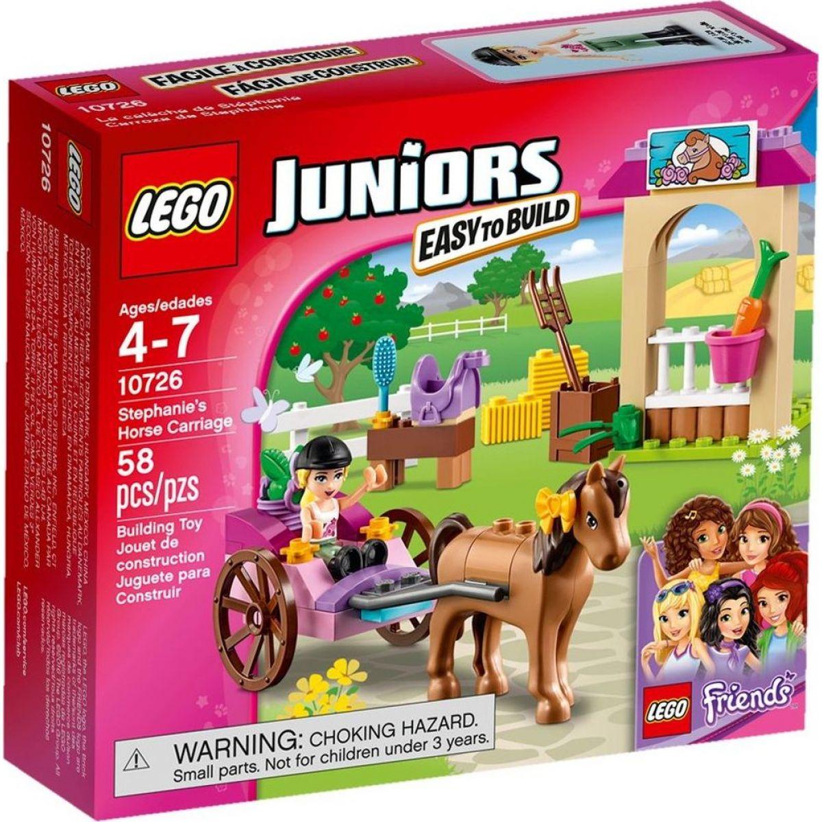 LEGO Juniors 10726 Stephanie a kočár s koníkem