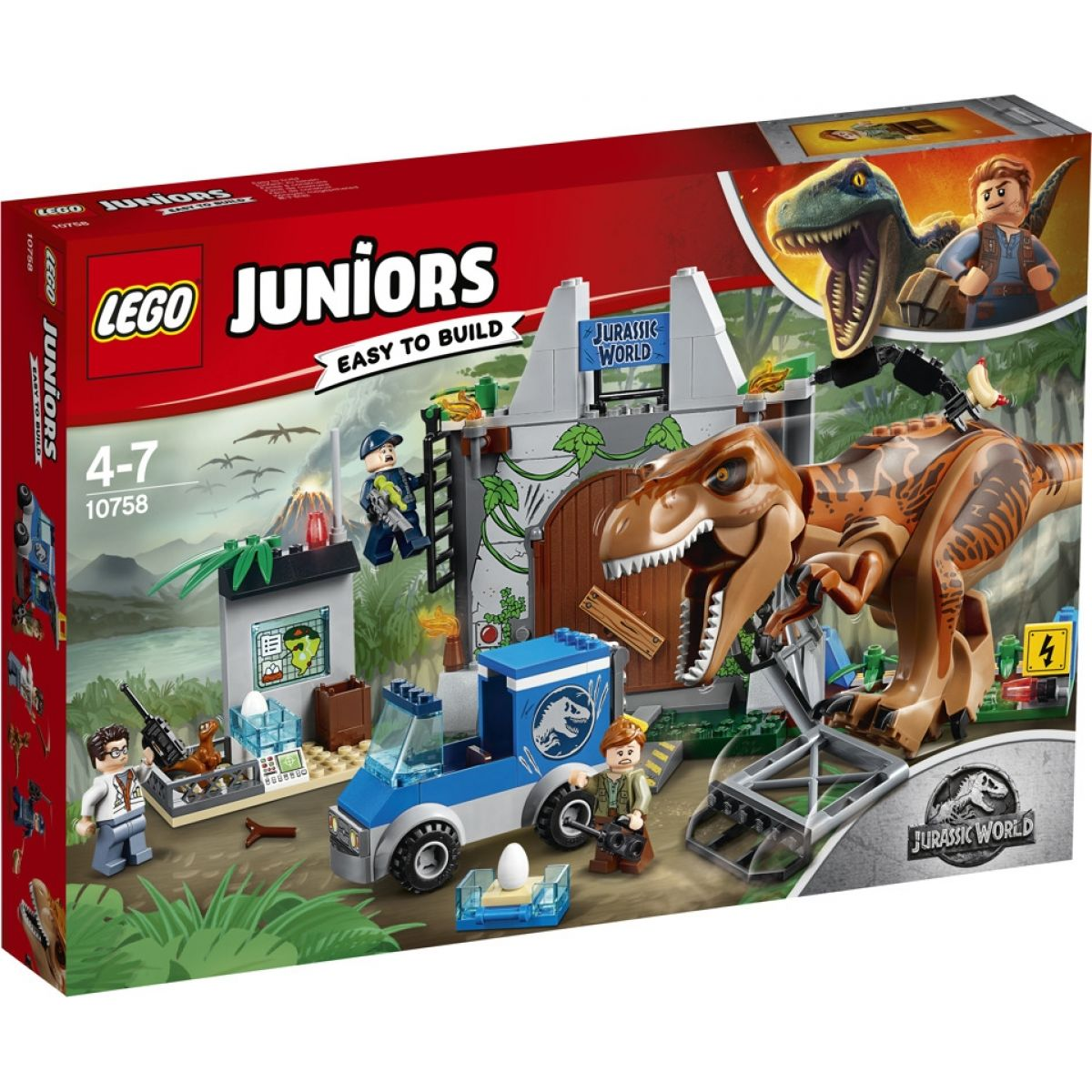 LEGO Juniors 10758 Jurassic World Útěk T. rexe