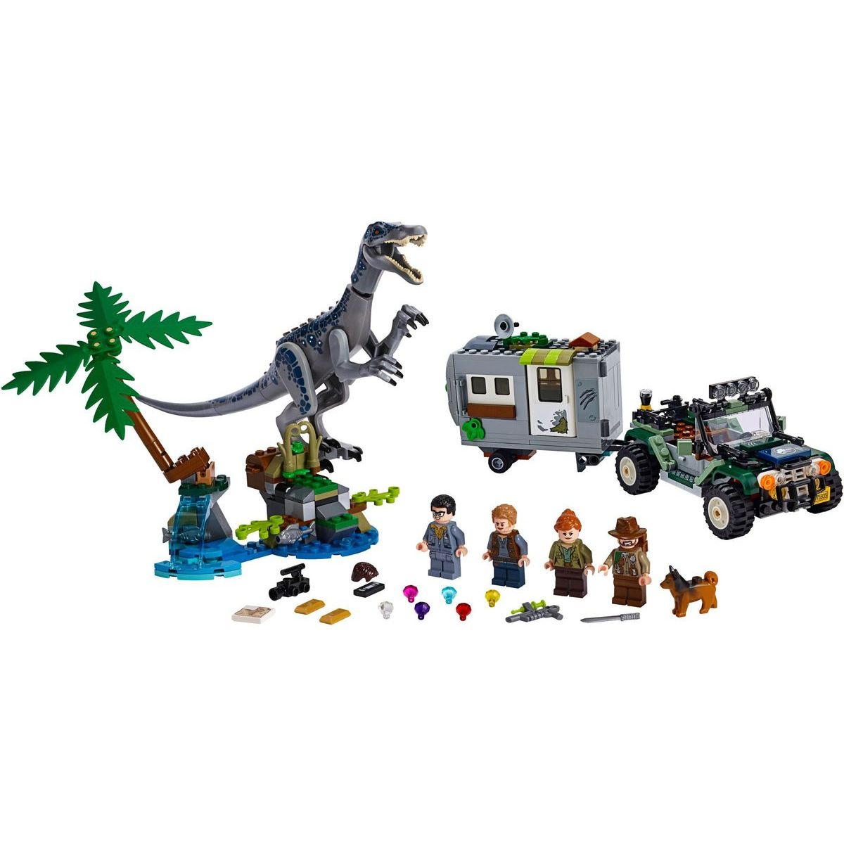 LEGO Jurassic World 75935 Setkání s Baryonyxem: Hon za pokladem