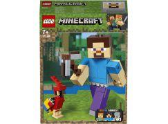 LEGO Minecraft 21148 velká figurka: Steve s papouškem