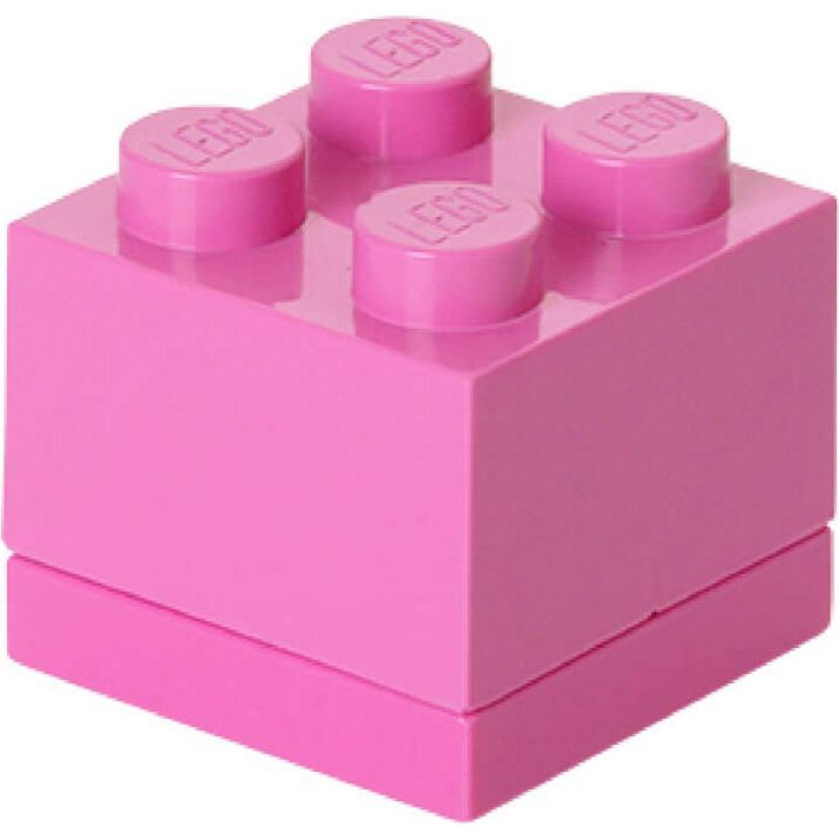 LEGO Mini Box 4,6x4,6x4,3cm Růžová