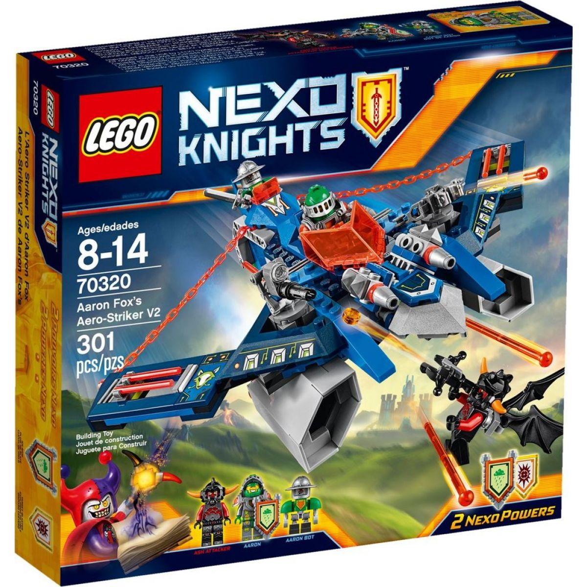 LEGO Nexo Knights 70320 Aaronův Aero Striker V2