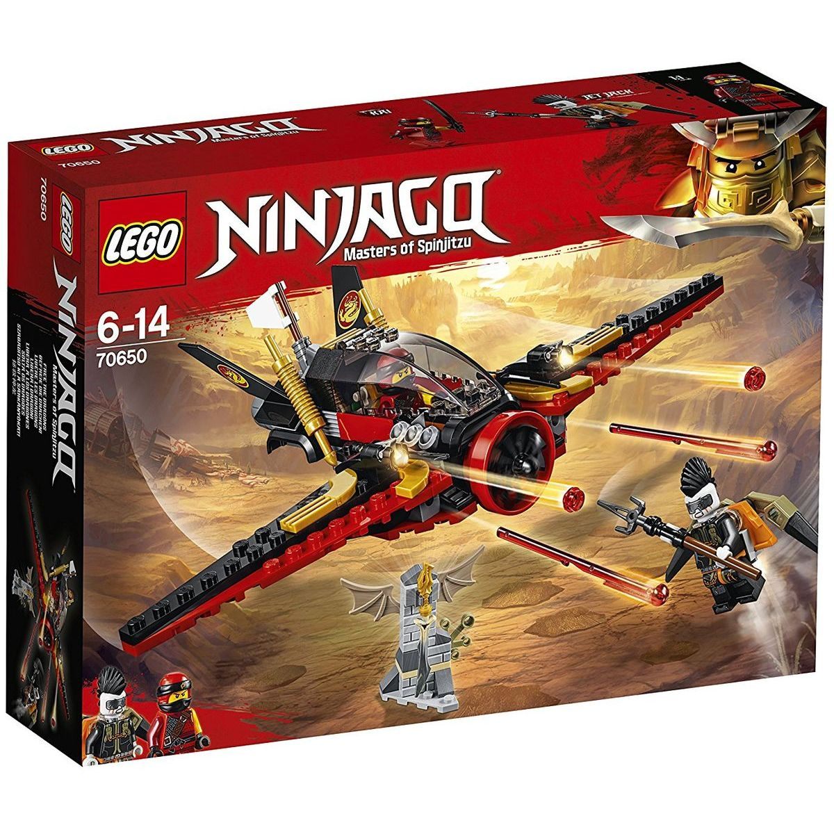 LEGO Ninjago 70650 Křídlo osudu - Poškozený obal