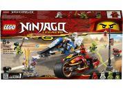 LEGO Ninjago 70667 Kaiova motorka s čepelemi a Zaneův sněžný vůz