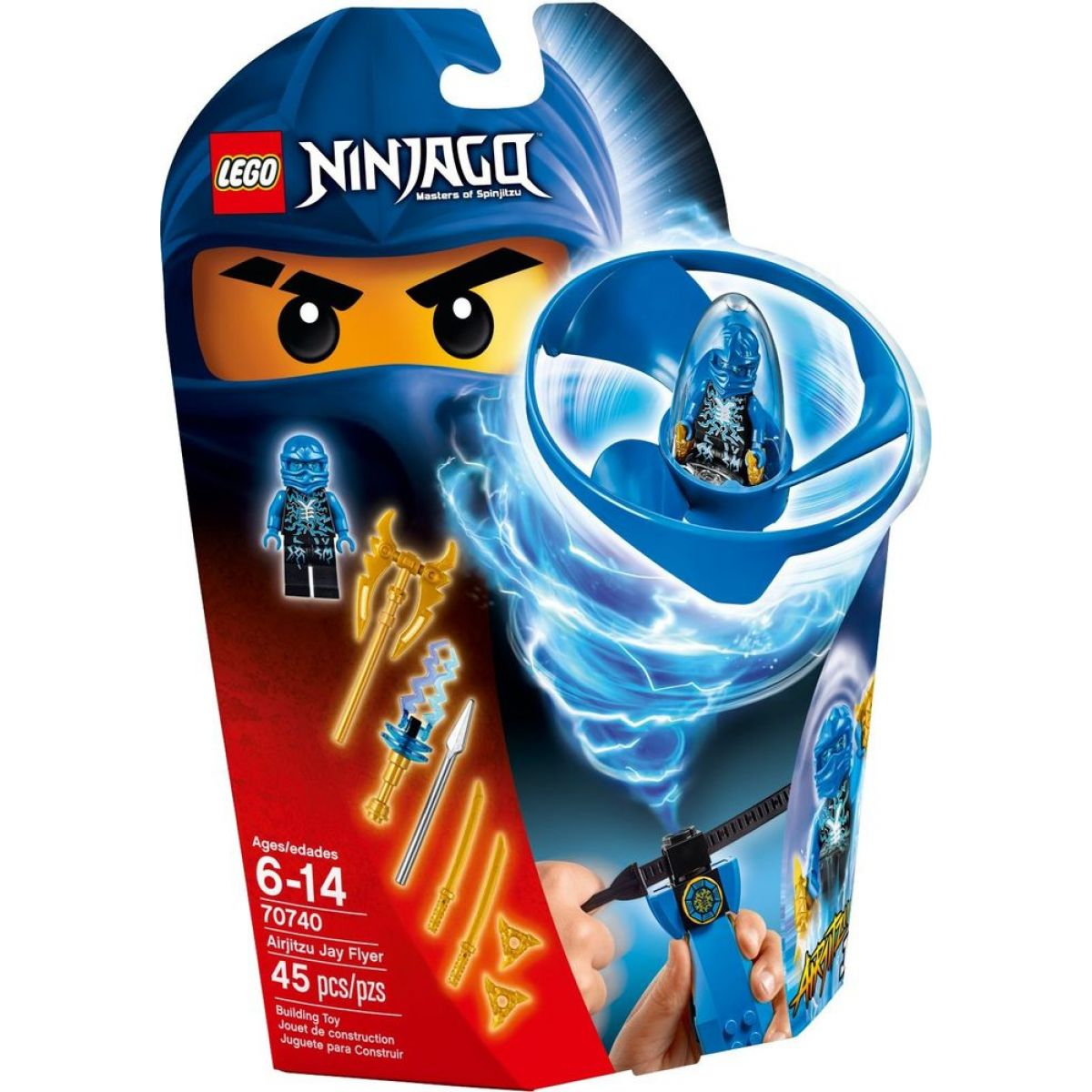 LEGO Ninjago 70740 Jayův letoun Airjitzu - Poškozený obal
