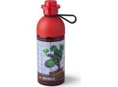 LEGO Ninjago láhev transparentní 0,5L červená