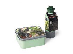 LEGO Ninjago Movie svačinový set (láhev a box) army zelená
