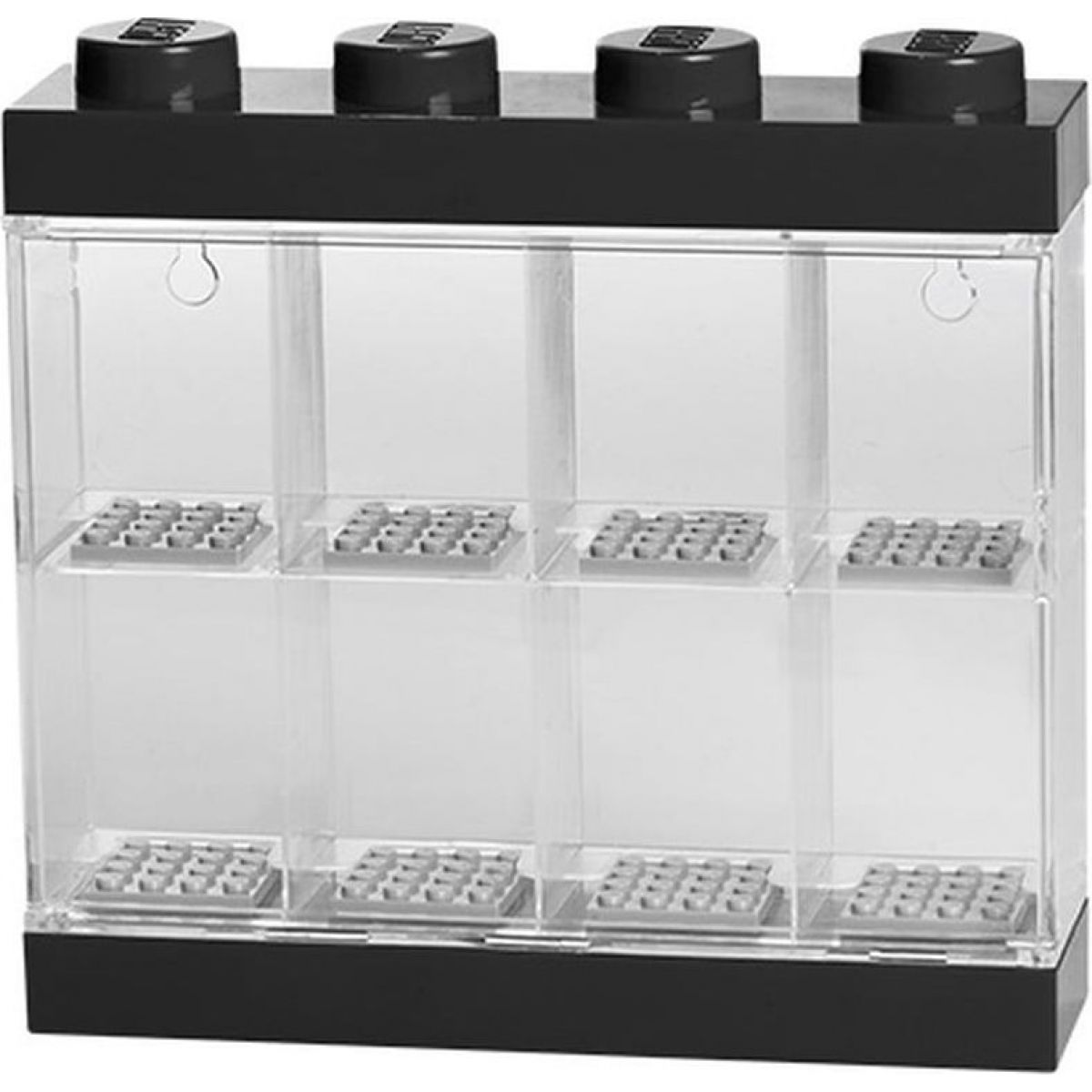 LEGO sběratelská skříňka na 8 minifigurek - černá