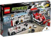 LEGO Speed Champions 75876 Porsche 919 Hybrid a 917K ulička v boxech