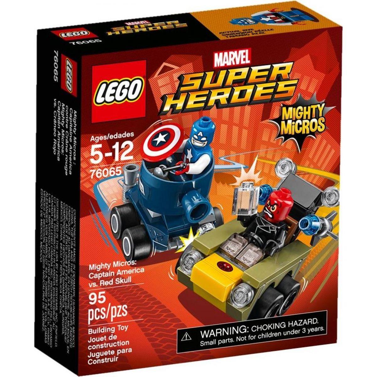 LEGO Super Heroes 76065 Mighty Micros: Kapitán America vs. Red Skull