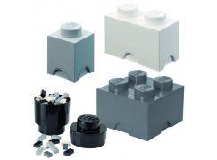 LEGO úložné boxy Multi-Pack 4 ks černá, bílá, šedá