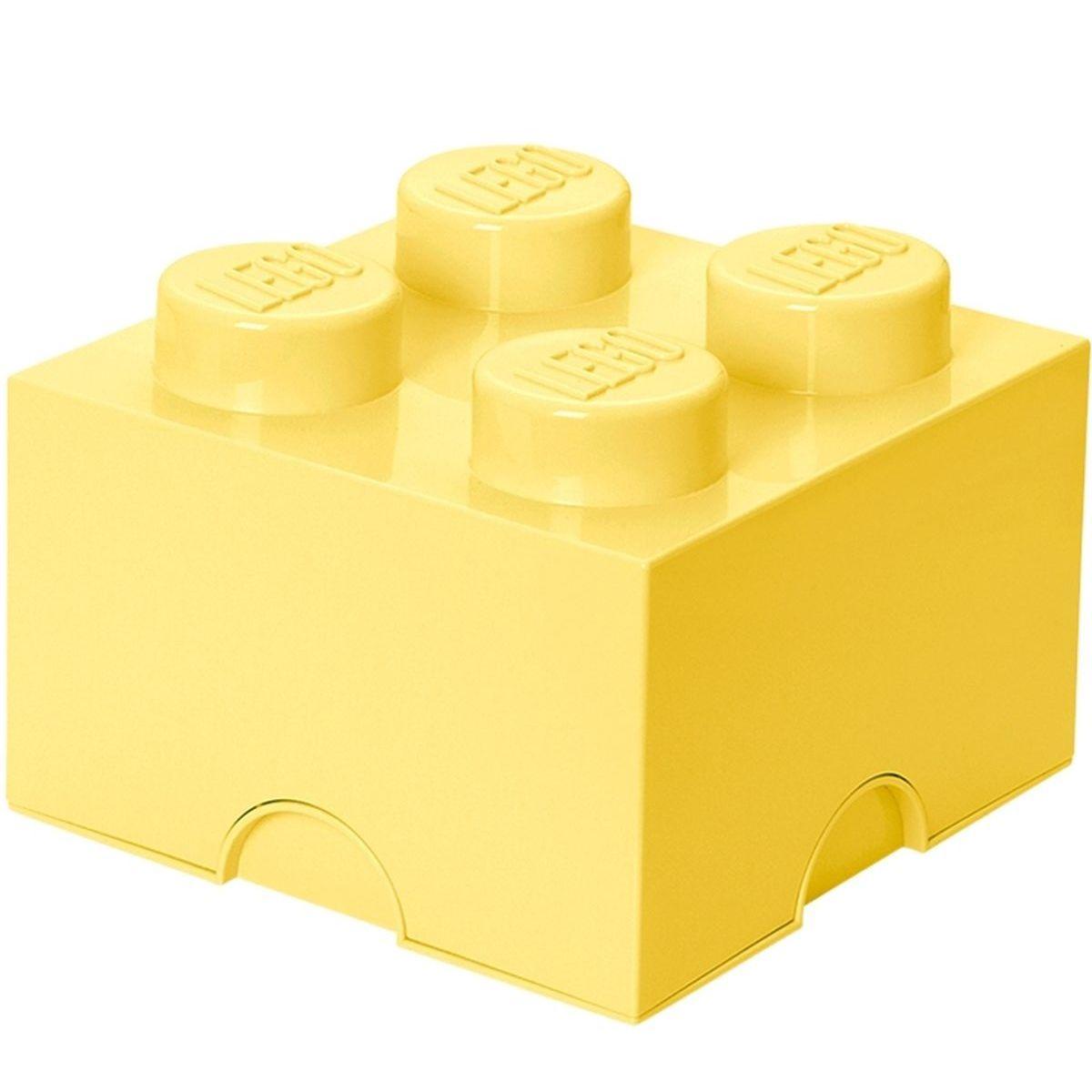 LEGO Úložný box 25x25x18cm Světle žlutá
